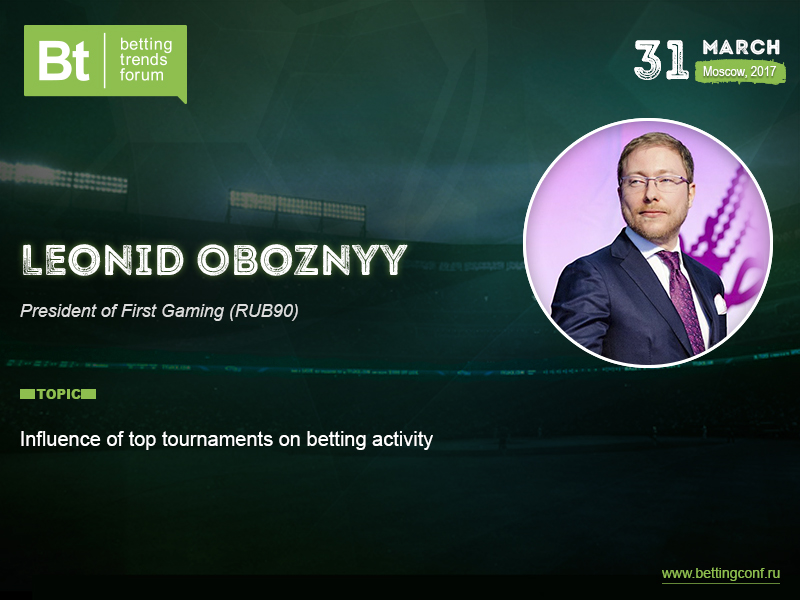 How top tournaments influence gambling activity: report of Leonid Oboznyy