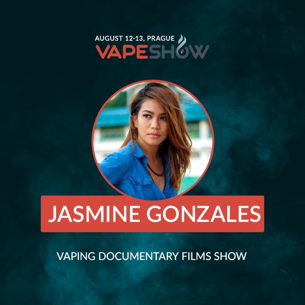 Jasmine Gonzales invites everyone to watch Vape Avenue | VapeShow Prague