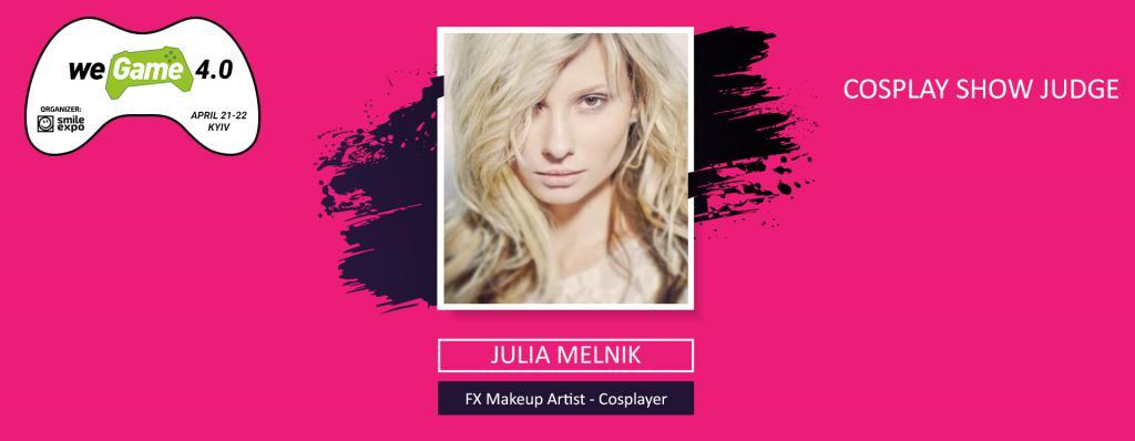 Julia Melnik will become a judge at WEGAME 4.0 cosplay show