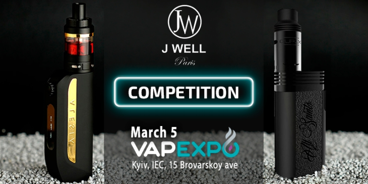 "JWell gives prizes for ""Tornado"" at VAPEXPO Kiev 2017!"
