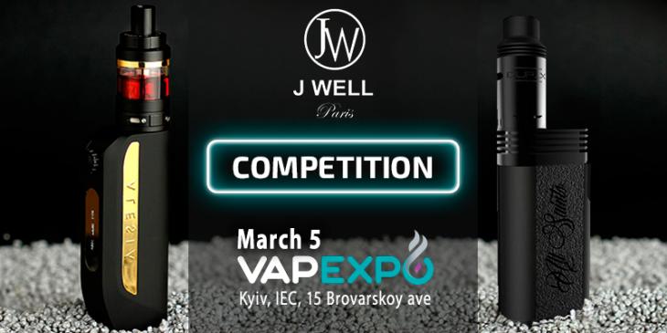 """JWell gives prizes for """"Tornado"""" at VAPEXPO Kiev 2017!"""