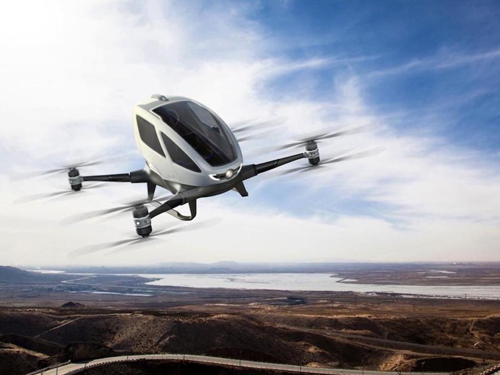 Китайцы представили беспилотное летающее такси