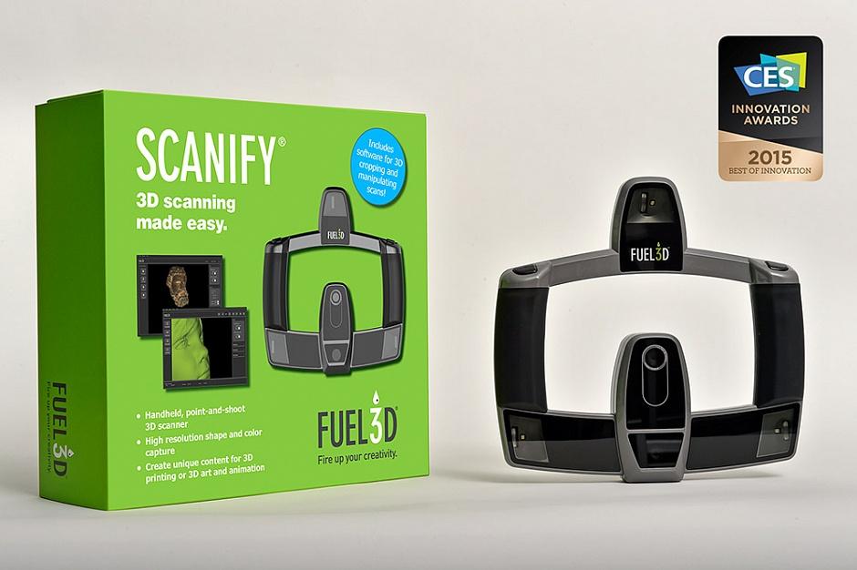 Компания Fuel3D представила суперскоростной сканер SCANIFY на CES 2015