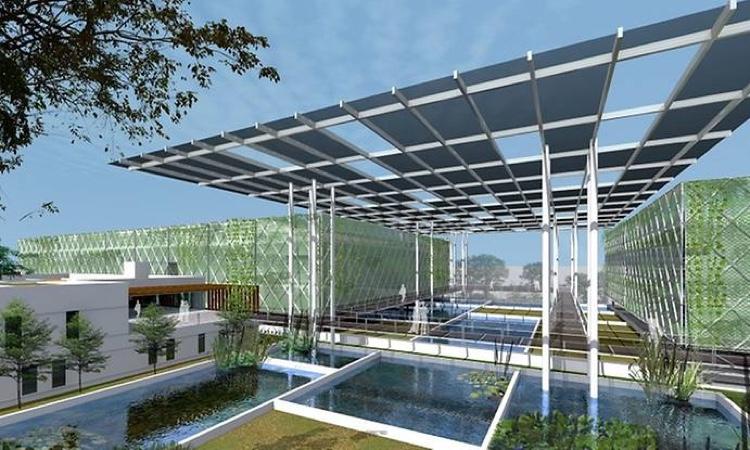 Компания Surbana Jurong автор концепции многоэтажных рыбных ферм
