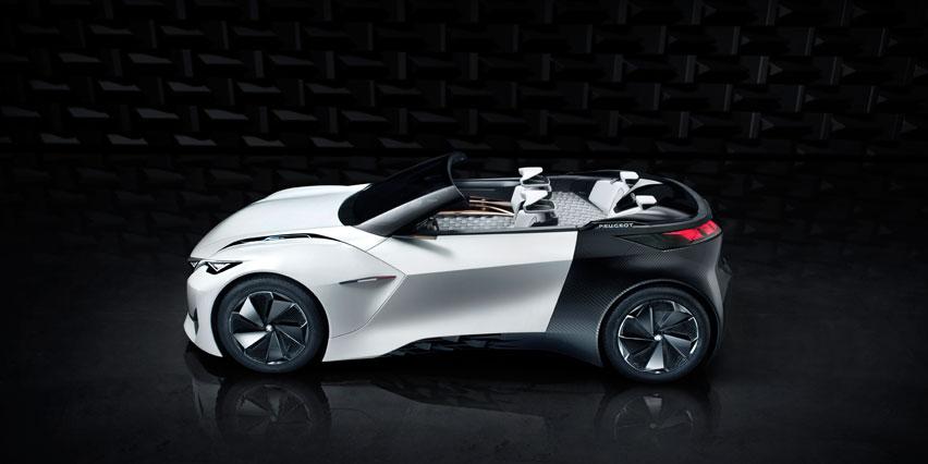 Концептуальный автомобиль Peugeot Fractal с интерьером, напечатанном с помощью 3D-принтера