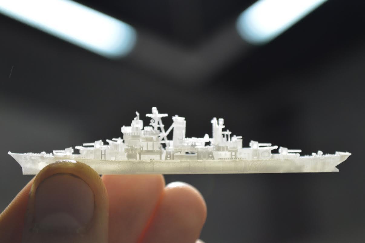 Крошечная 3D-печатная модель корабля поразит ваше воображение