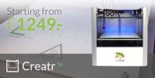 Leapfrog представляет улучшенный 3D-принтер Creatr '14