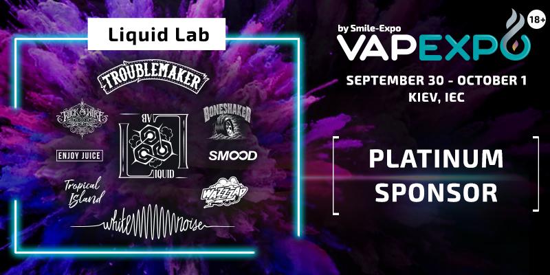 Liquid Lab to be Exhibition Platinum Sponsor!