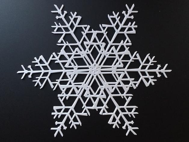 Машина для создания уникальных образцов снежинок на 3D-принтере