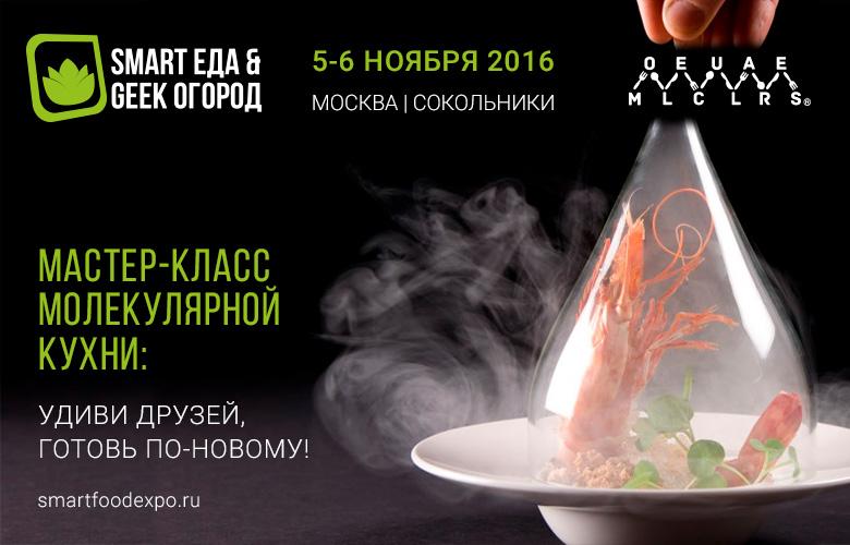 Мастер-класс молекулярной кухни на выставке Smart Еда & Geek Огород 2016