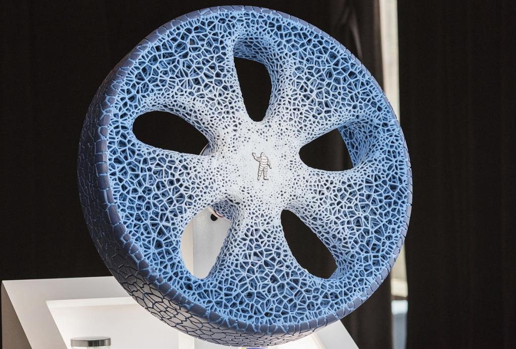Michelin представила 3D-печатные безвоздушные шины из органических материалов
