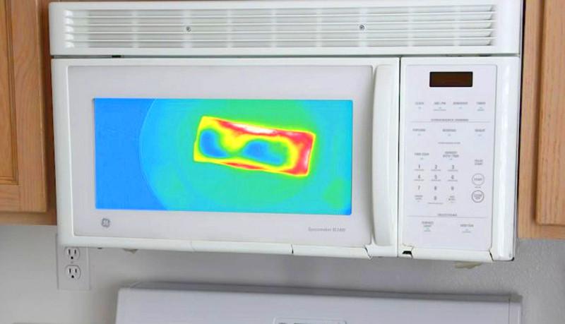 Микроволновка, которая показывает степень прогрева еды