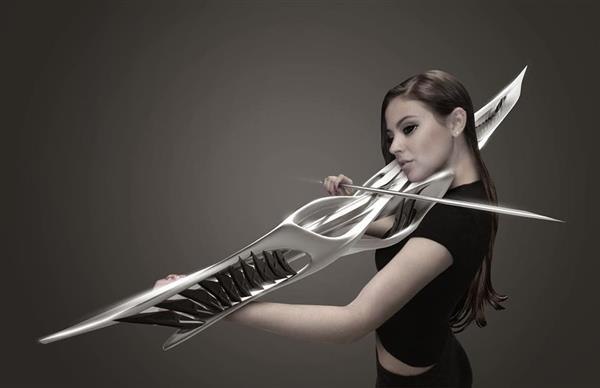 MONAD Studio mixes 3D printing and sci-fi to create 2-string violin and futuristic sonic experiences
