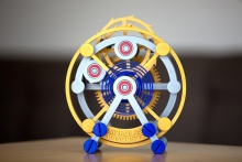Watch tourbillon at 1,000 percent scale