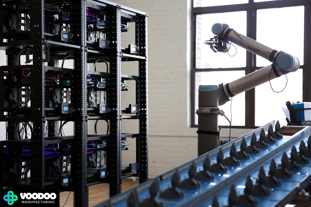 На фабрике Voodoo Manufacturing 3D-принтеры будут обслуживаться роботами