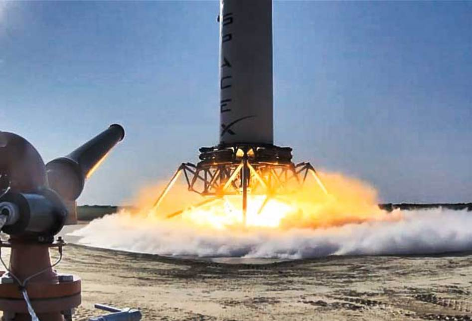 Неудачная посадка ракеты-носителя  SpaceX