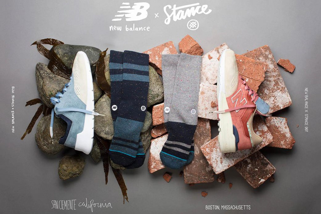 New Balance × Stance: collaboration for classic lovers