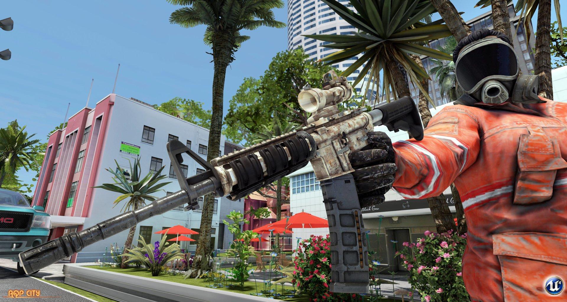 Независимая GTA 6 на Unreal Engine 4 с лошадьми и танками