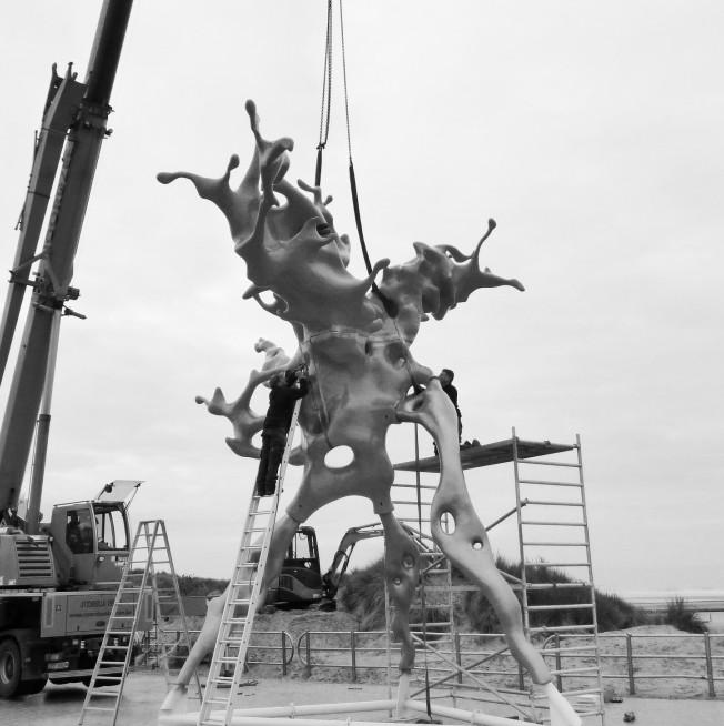Огромные 3D-скульптуры Ника Эрвинка на его новом сайте