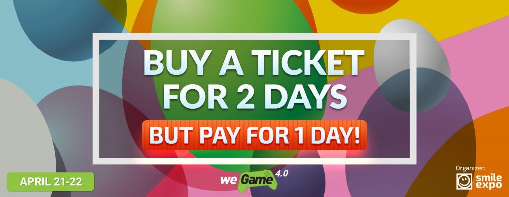 One day as a gift! A special offer from WEGAME 4.0: 2 fest days for the price of 1!