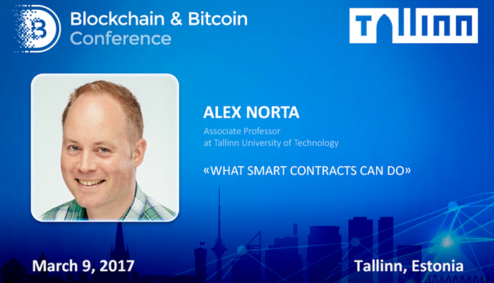 Opportunities and problems of smart contracts. Alex Norta, Professor from University of Technology, will speak in Tallinn
