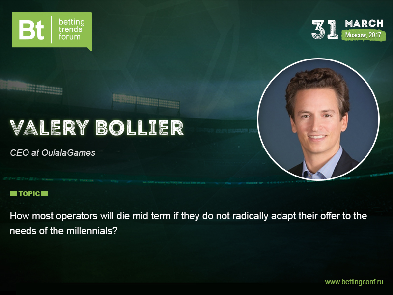 OulalaGames CEO Valéry Bollier will speak at Betting Trends Forum