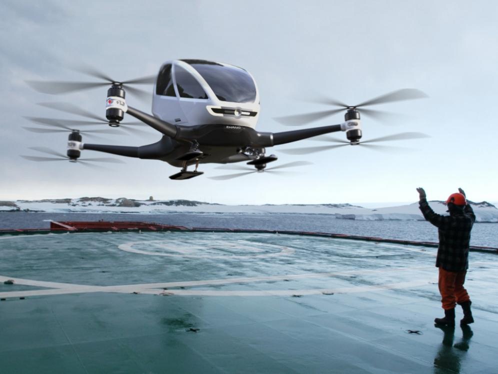 Пассажирский беспилотник Ehang 184 начинает тестовые полеты