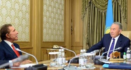 Президент РК Нурсултан Назарбаев встретился с главой компании «Wynn Resorts» Стивеном Уинном