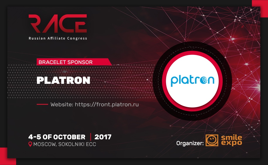 RACE: Platron is our Bracelet Sponsor