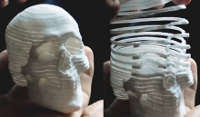Распечатанный на 3D-принтере череп