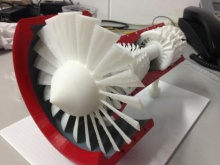 Реактивный двигатель сделан на 3D принтере