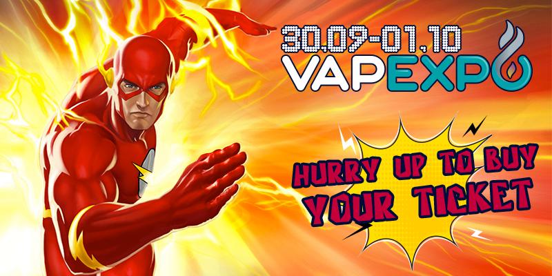 Register on VAPEXPO Kiev website and save 50 UAH!