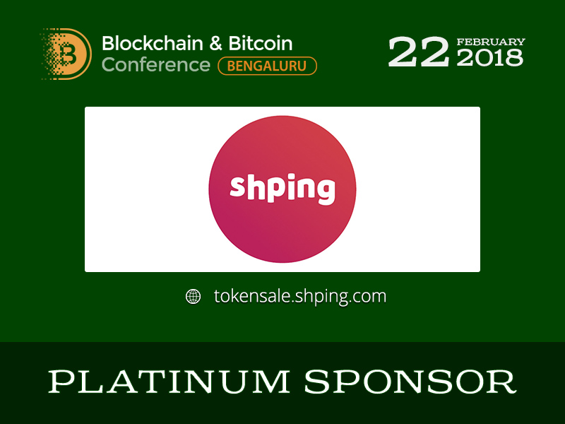 Shping: Platinum Sponsor of Blockchain & Bitcoin Conference Bengaluru