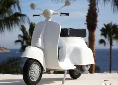 Скутер Vespa – 3D-печатная модель