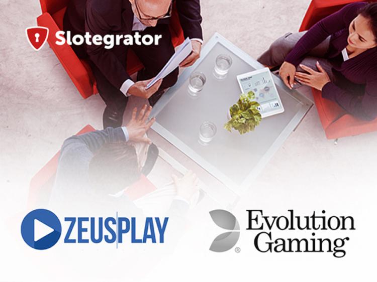 Slotegrator расширяет линейку партнеров вместе с Evolution Gaming и ZeusPlay