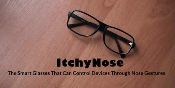 Smart glasses: touch your nose to reject a call