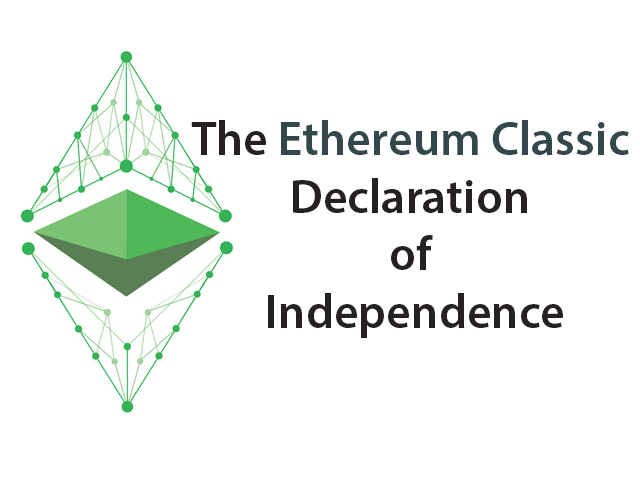 Сообщество Ethereum Classic опубликовало декларацию о независимости