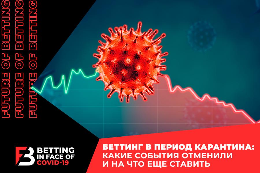 Спортсбук на карантине: на что ставить в период пандемии COVID-19?