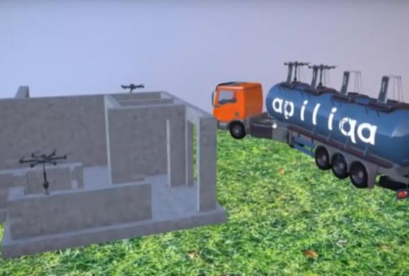 Строительная концепция от разработчиков из Уфы: печать зданий дронами на 3D-принтере