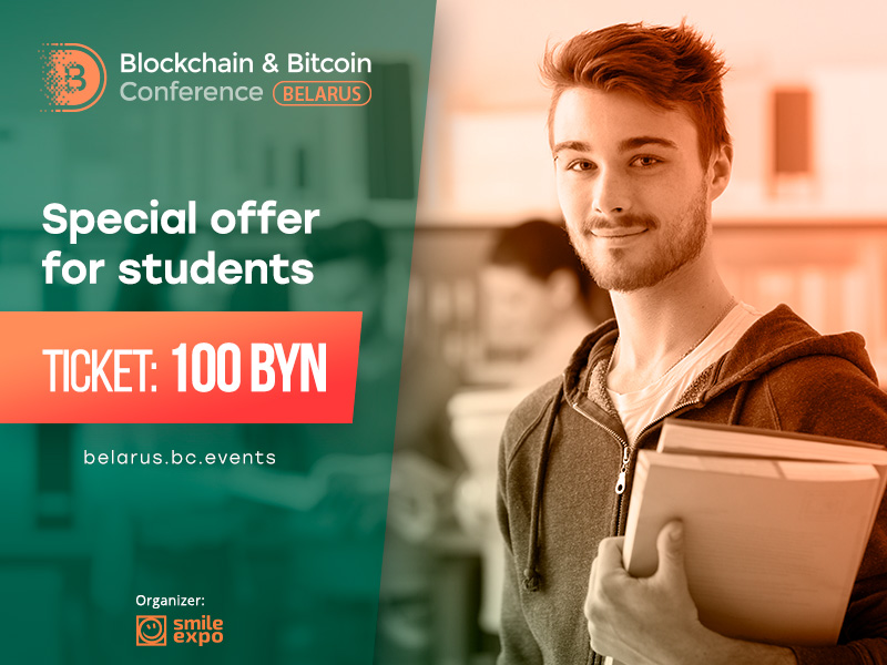Student tickets to Blockchain & Bitcoin Conference Belarus are now available