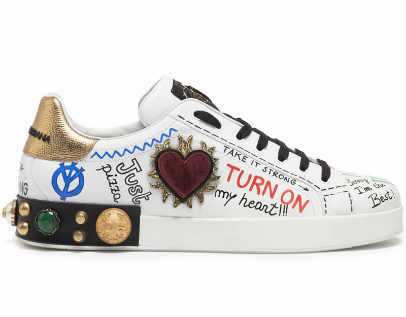 Студия сникеров Dolce & Gabbana: разрисуй свою обувь!