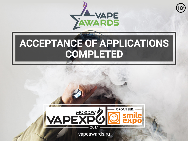 Submitting applications to Vape Awards is over, voting continues! Support your favorite