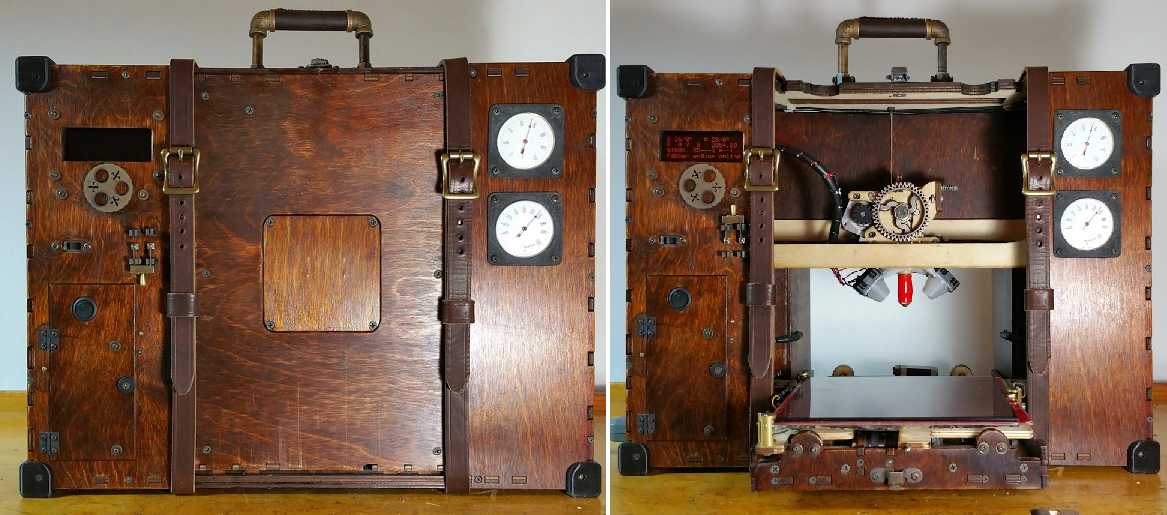 This Steampunk Printrbot GO by Watchmaker John Davis is the Coolest Machine You'll See Today