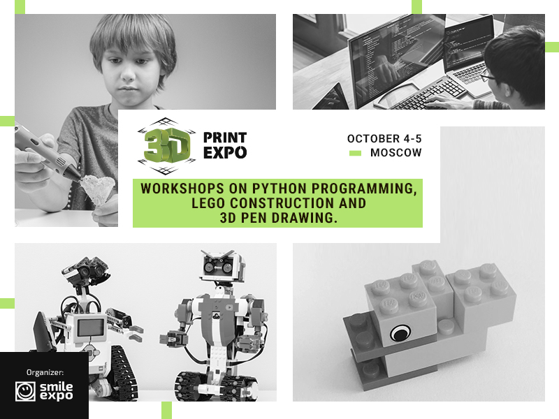 Three Free Workshops on Programming, Lego and 3D Pen Drawing