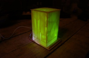 3D printed Twitter Mood Lamp changes colors to match the mood of the city of Denver
