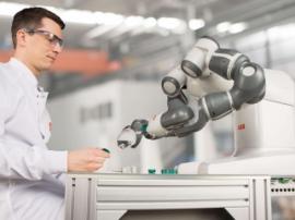 "ABB Robotics uses Ultimaker 3D printer to print YuMi robot's ""hands"""