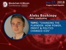 Aleks Bozhinov, key speaker of the BBC Prague, will talk about how authorities, policies and financial structures affected ICO