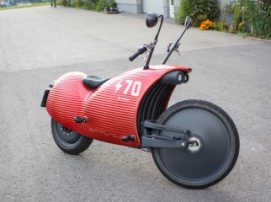 Austrian engineer created an electric motorcycle resembling a war horse