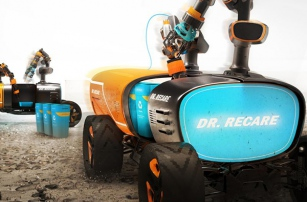 Introducing Dr. Recare — Spring Break Beach Clean-Up Work Covered by 3D Printing Robots?