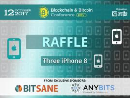 Blockchain & Bitcoin Conference Kiev will run a giveaway of three iPhone 8